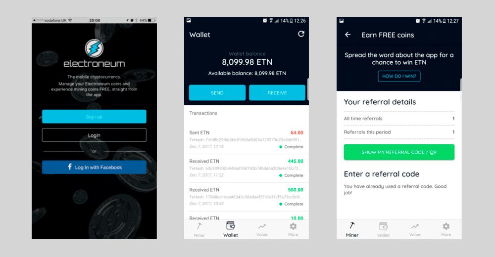 Мобильное приложение Electroneum (ETN)