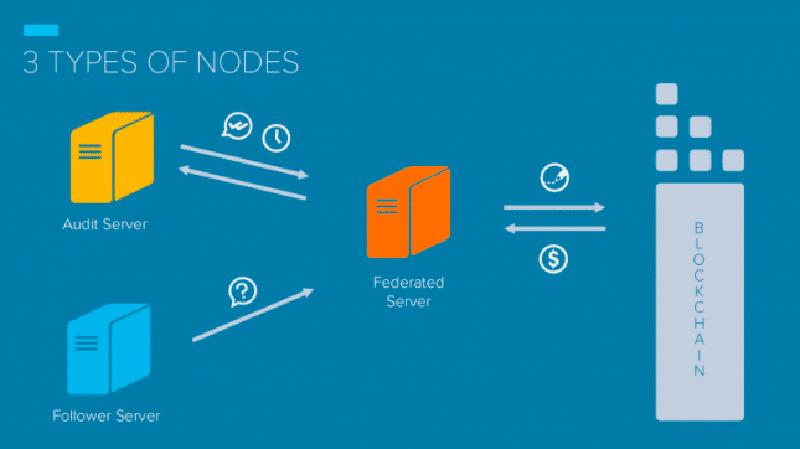 Factom использует три типа серверов (узлов)