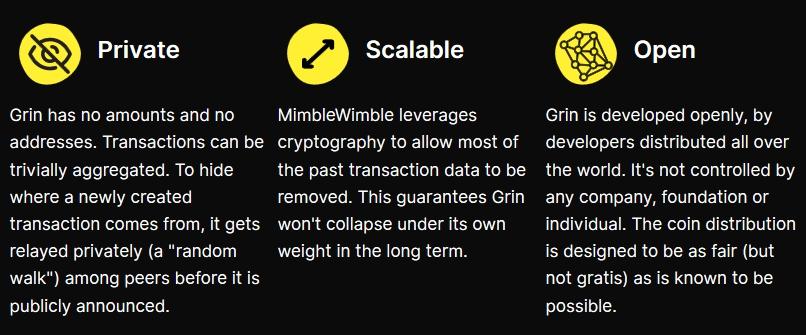 Цель Grin - стать первым масштабируемым, полностью приватным блокчейном